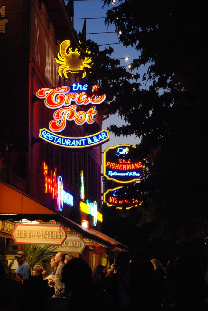 Great neon signs in Seattle, I guess cause it's gloomy.